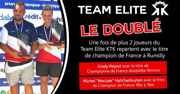 Le Doublé ! KTK encore Champion de France à Rumilly !